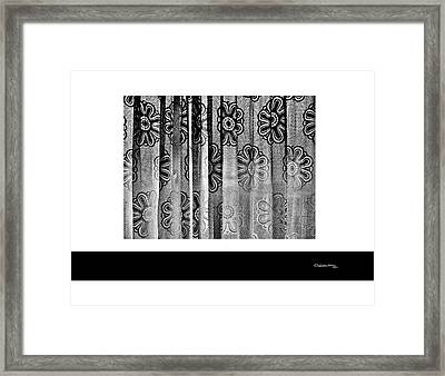 Curtained Window Framed Print