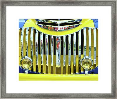 Custom Chevy Truck   Framed Print by Allen Beatty