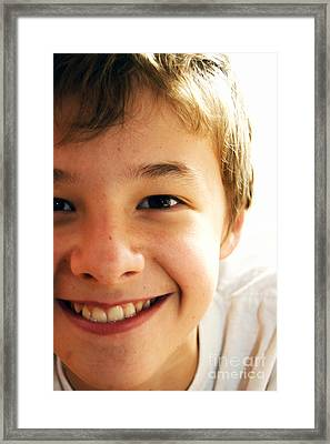 Cute Boy Framed Print
