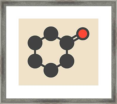 Cyclohexanone Organic Solvent Molecule Framed Print by Molekuul