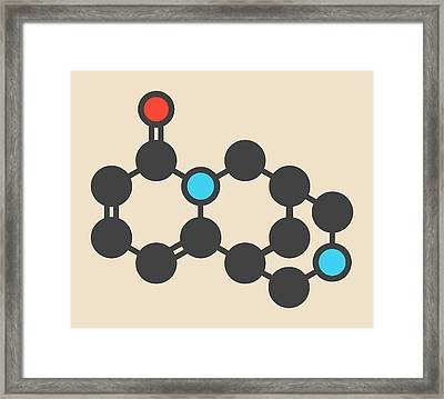 Cytisine Smoking Cessation Drug Molecule Framed Print by Molekuul