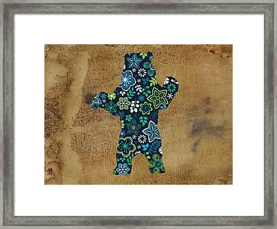Da Bear Framed Print by Celestial Images