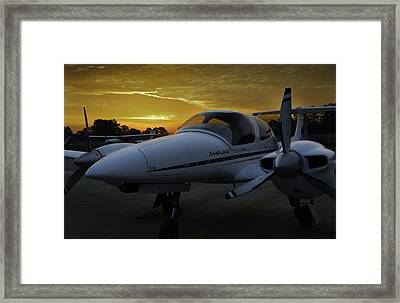 Da42 In The Morning Framed Print