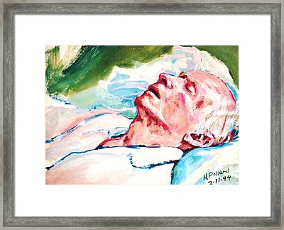 Dad Dying Framed Print