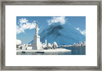 Daily Global Co2 Emissions Framed Print