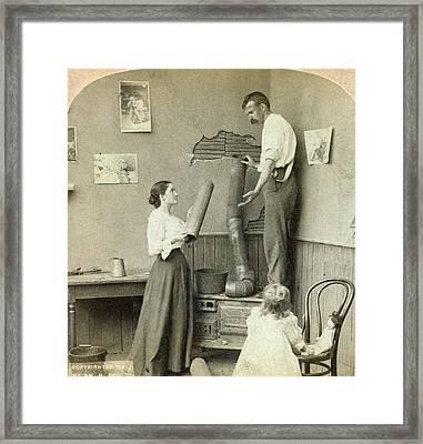 Daily Life Chores, C1897 Framed Print