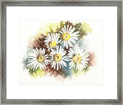 Framed Print featuring the painting Daisies by Natasha Denger