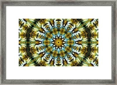 Kaleidoscope Daisy Mae Framed Print