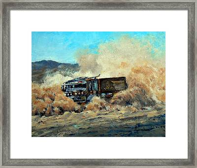Rally Dakar Giant Framed Print
