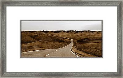 Framed Print featuring the photograph Dakota Highway 1804 by Thomas Bomstad