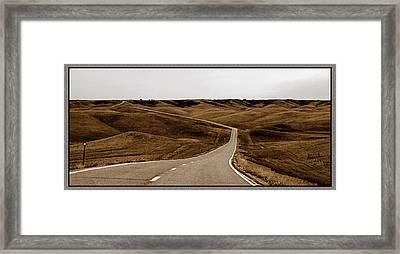 Dakota Highway 1804 Framed Print