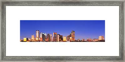 Dallas At Dawn Framed Print