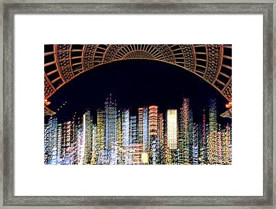 Dallas At Night Framed Print