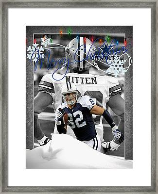 Dallas Cowboys Christmas Card Framed Print by Joe Hamilton