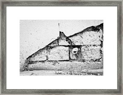 Damaged Wall Framed Print