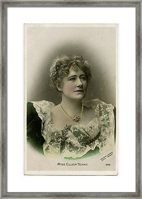 Dame Ellen Alice Terry (1847 - 1928) Framed Print by Mary Evans Picture Library