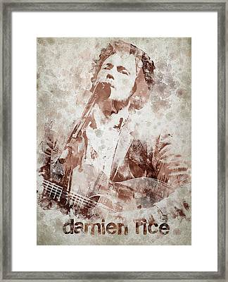 Damien Rice Portrait Framed Print by Aged Pixel