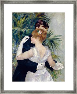 Dance In The City Framed Print by Pierre-Auguste Renoir