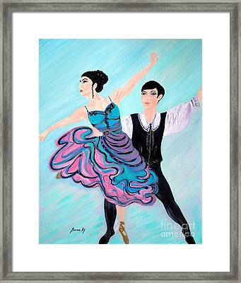 Framed Print featuring the painting Dance. Inspirations Collection. by Oksana Semenchenko