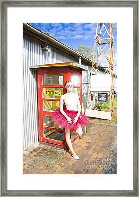 Dancer And Telephone Box Framed Print by Jorgo Photography - Wall Art Gallery