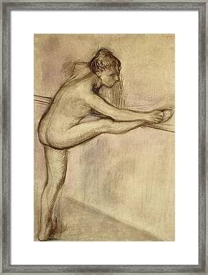 Dancer At The Bar Framed Print by Edgar Degas