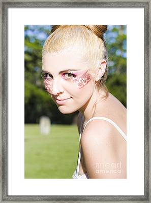 Dancing Ballerina Face Framed Print by Jorgo Photography - Wall Art Gallery