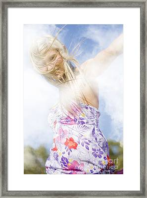 Dancing Dream Girl Framed Print by Jorgo Photography - Wall Art Gallery