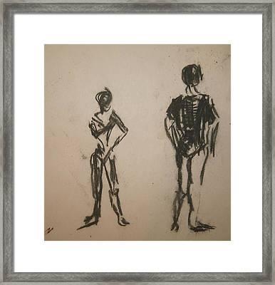 Dancing  Framed Print by Elena Svobodina
