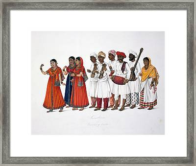 Dancing-girls And Musicians Framed Print by British Library