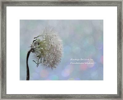 Dandelion Wishes Framed Print by Krissy Katsimbras
