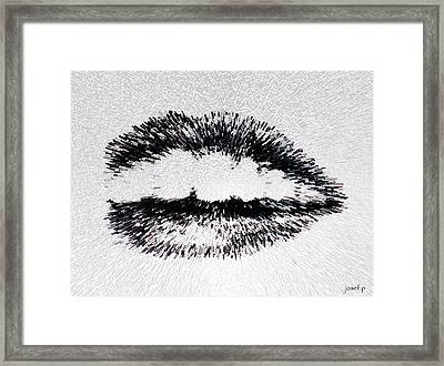Dangerous Lips Framed Print by Sir Josef - Social Critic - ART
