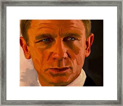 Daniel Craig 007 Framed Print
