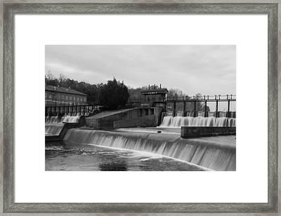 Daniel Pratt Cotton Mill Dam Prattville Alabama Framed Print