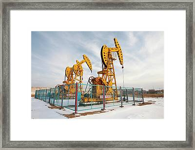 Daqing Oil Field Framed Print by Ashley Cooper