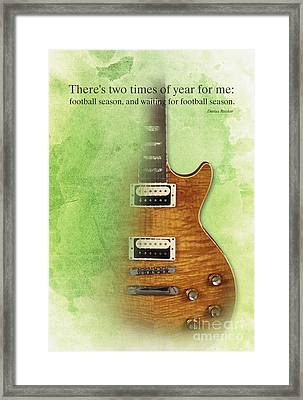 Darius Rucker Quote For Football Fans Framed Print by Pablo Franchi