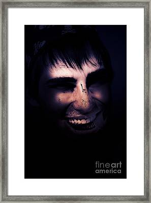 Dark Creepy And Spooky Undead Pirate Framed Print by Jorgo Photography - Wall Art Gallery