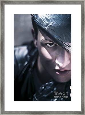 Dark Evil Man Framed Print by Jorgo Photography - Wall Art Gallery