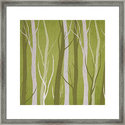 Dark Forest Framed Print by Aged Pixel