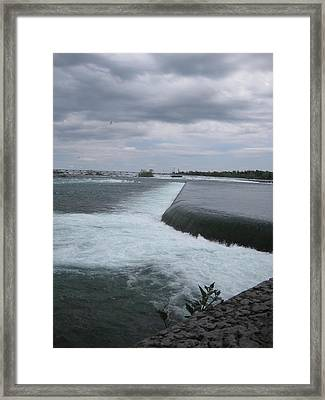 Dark River Falls Framed Print