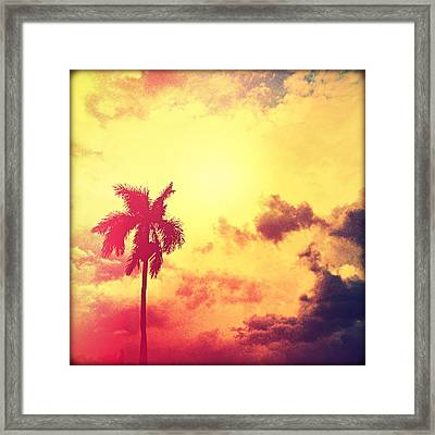 Darkness Moving In Framed Print