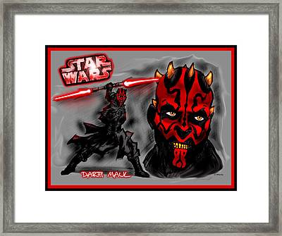 Darth Maul - Sith Lord Framed Print