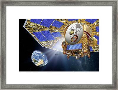 Darwin Infrared Space Telescope Framed Print by Detlev Van Ravenswaay