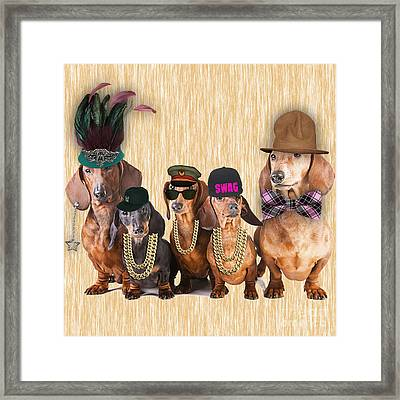 Dachshund Family Framed Print by Marvin Blaine