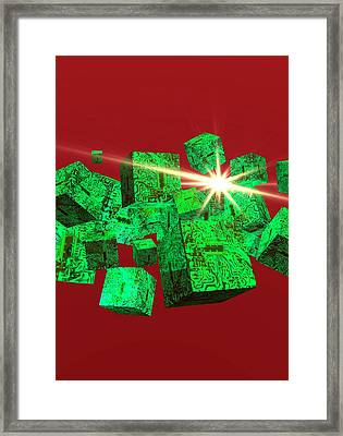 Data Storage Framed Print