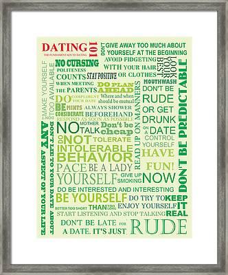 Dating 101 Framed Print