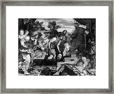 David And Goliath Framed Print by Granger