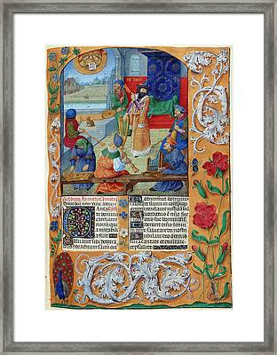 David And Musicians Framed Print by British Library