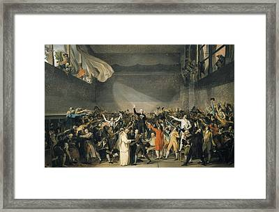 David, Jacques-louis 1748-1825. Oath Framed Print by Everett