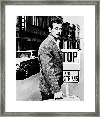 David Janssen In The Fugitive Framed Print by Silver Screen
