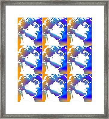 David Repeat Treatment One Color Framed Print by Tony Rubino